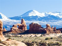 Udsigten over Arches National Park, USA